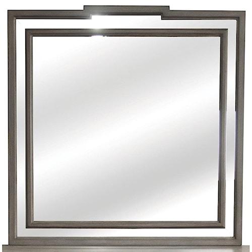 Riverside Furniture Dara II Mirror with Mirrored Border Frame