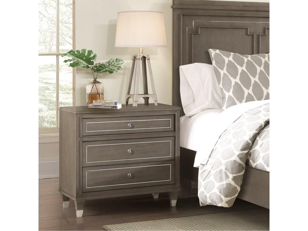 Riverside Furniture Dara II3 Drawer Nightstand