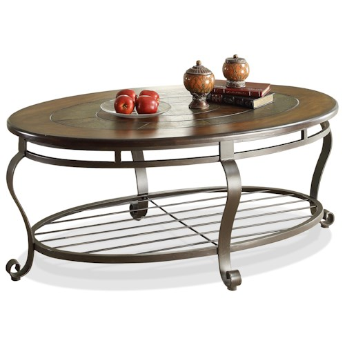 Riverside Furniture Eastview Slate Top Oval CoffeeTable