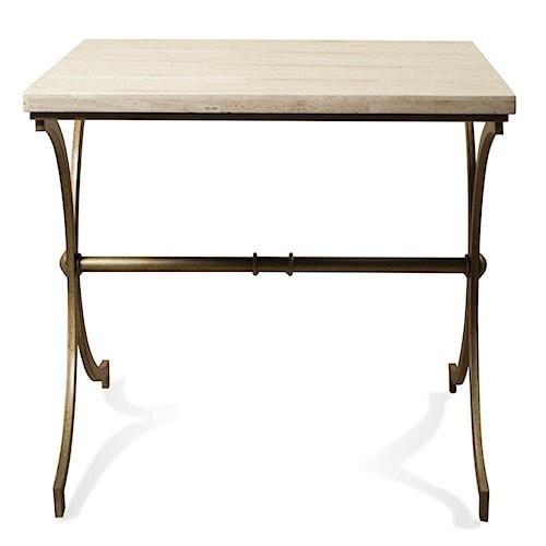 Riverside Furniture Elan Travertine Top Side Table
