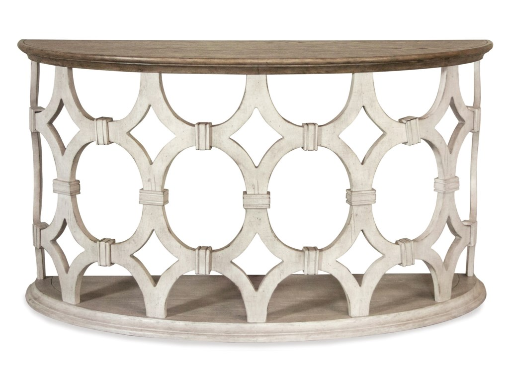 Riverside Furniture ElizabethDemilune Sofa Table