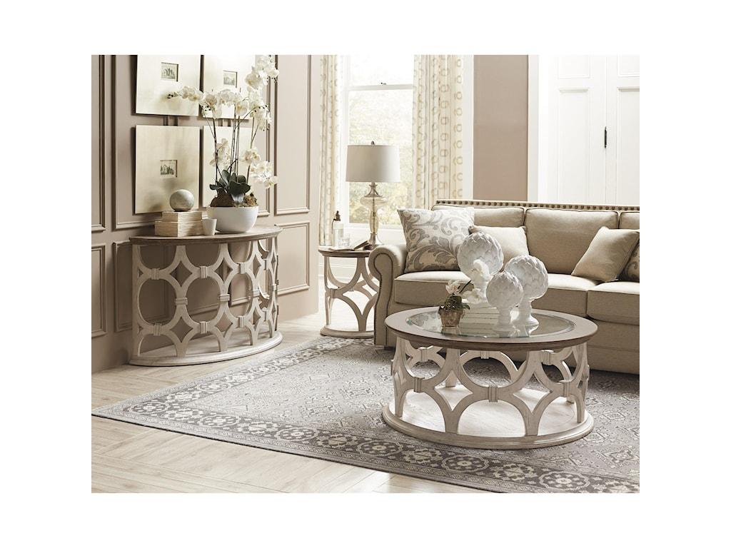 Riverside Furniture ElizabethDemilune Sofa Table