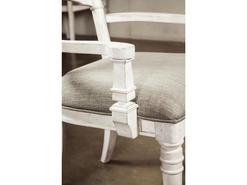 Riverside Furniture ElizabethUpholstered Ladderback Arm Chair