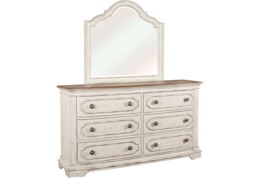 Elizabeth Traditional 6 Drawer Dresser