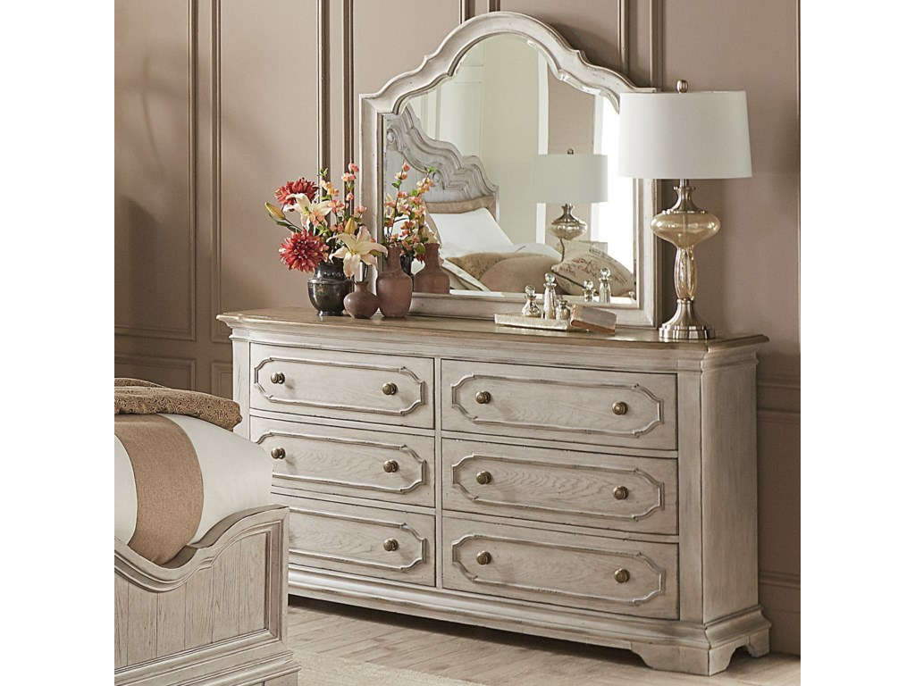 Riverside Furniture ElizabethDresser and Mirror Combo