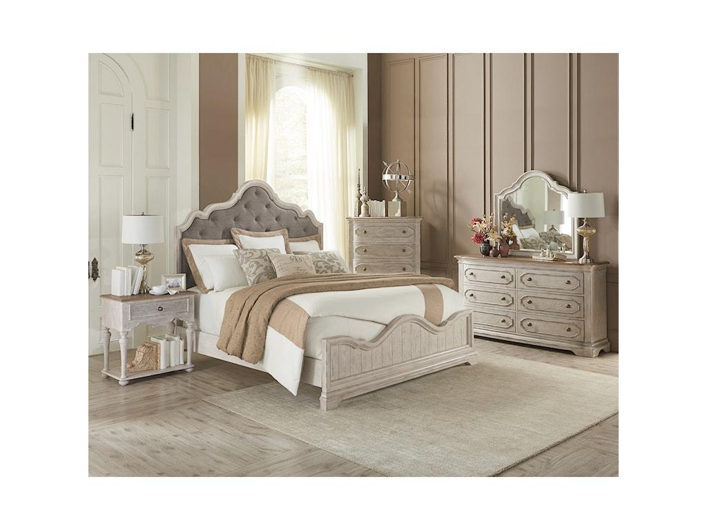 Riverside Furniture ElizabethCalifornia King Upholstered Arch Bed