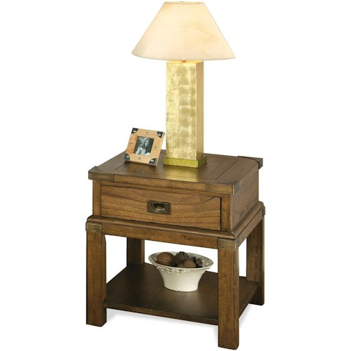 Riverside Furniture Falls Creek 1 Drawer End Table