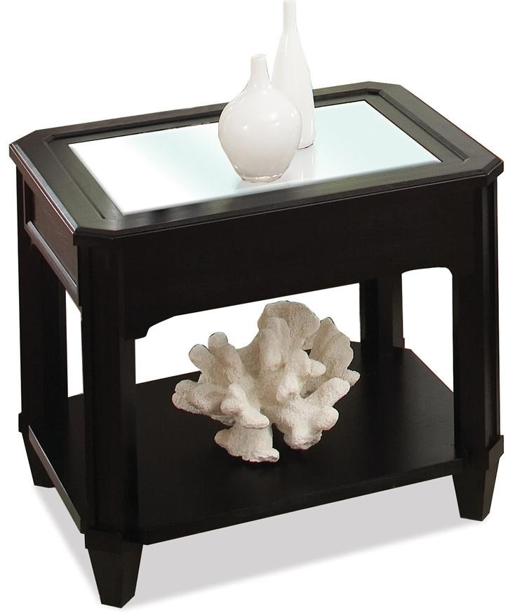 Riverside Furniture Farrington Beveled Edge Glass Top End Table