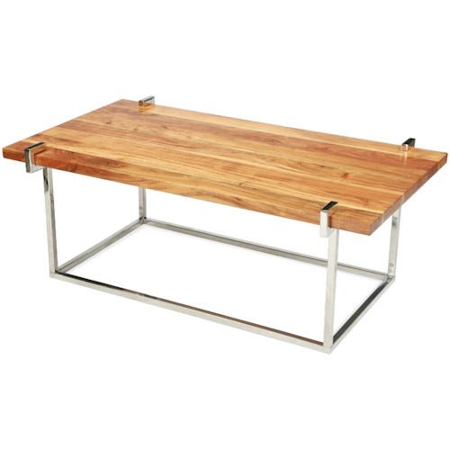 Riverside Furniture Forrester Rectangle Cocktail Table in Glossy Acacia Finish
