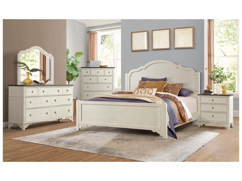 Riverside Furniture Grand HavenDresser and Mirror Combination