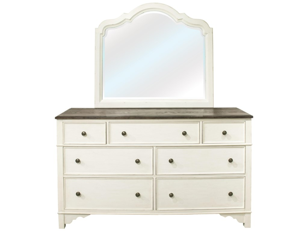 Riverside Furniture Grand HavenLandscape Mirror