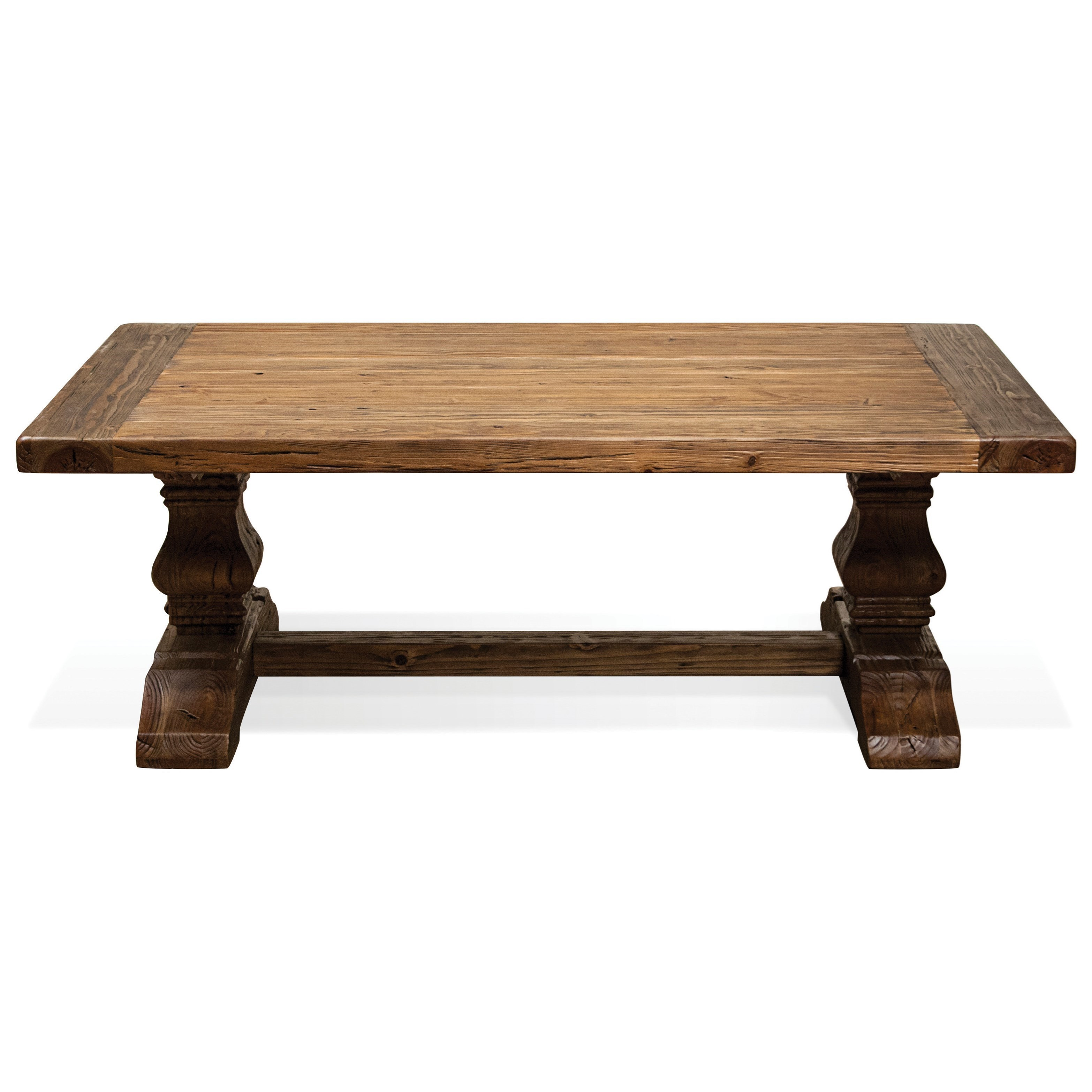 Picture of: Riverside Furniture Hawthorne Coffee Table With Traditionally Turned Trestle Base Wayside Furniture Cocktail Coffee Tables