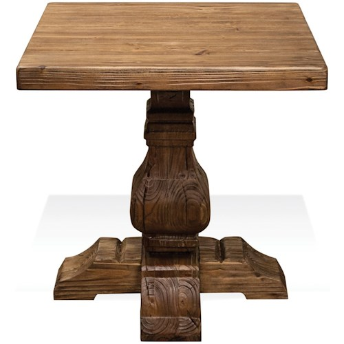 Riverside Furniture Hawthorne Side Table with Traditionally Turned Cross Base