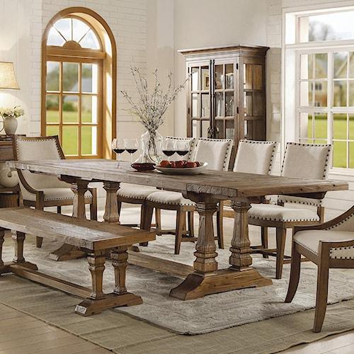 Riverside Furniture Hawthorne Solid Wood Rectangular Dining Table