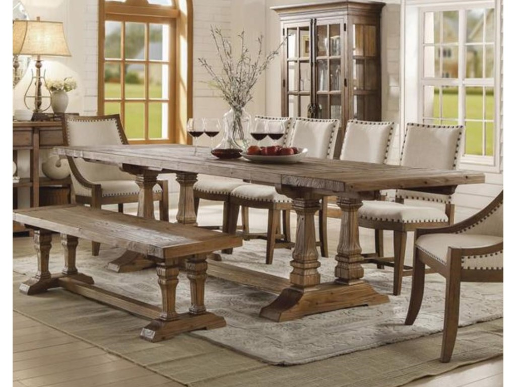 Riverside Furniture HawthorneTable & 4 Chairs with Bench