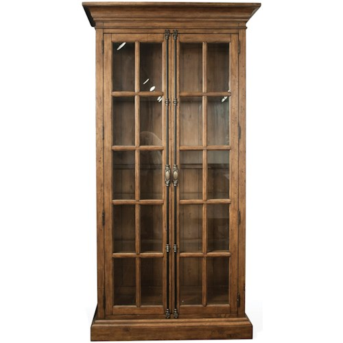Riverside Furniture Hawthorne Display Cabinet with 2 Accent Lights