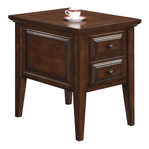 Riverside Furniture Hilborne Casual 2 Drawer Side Table