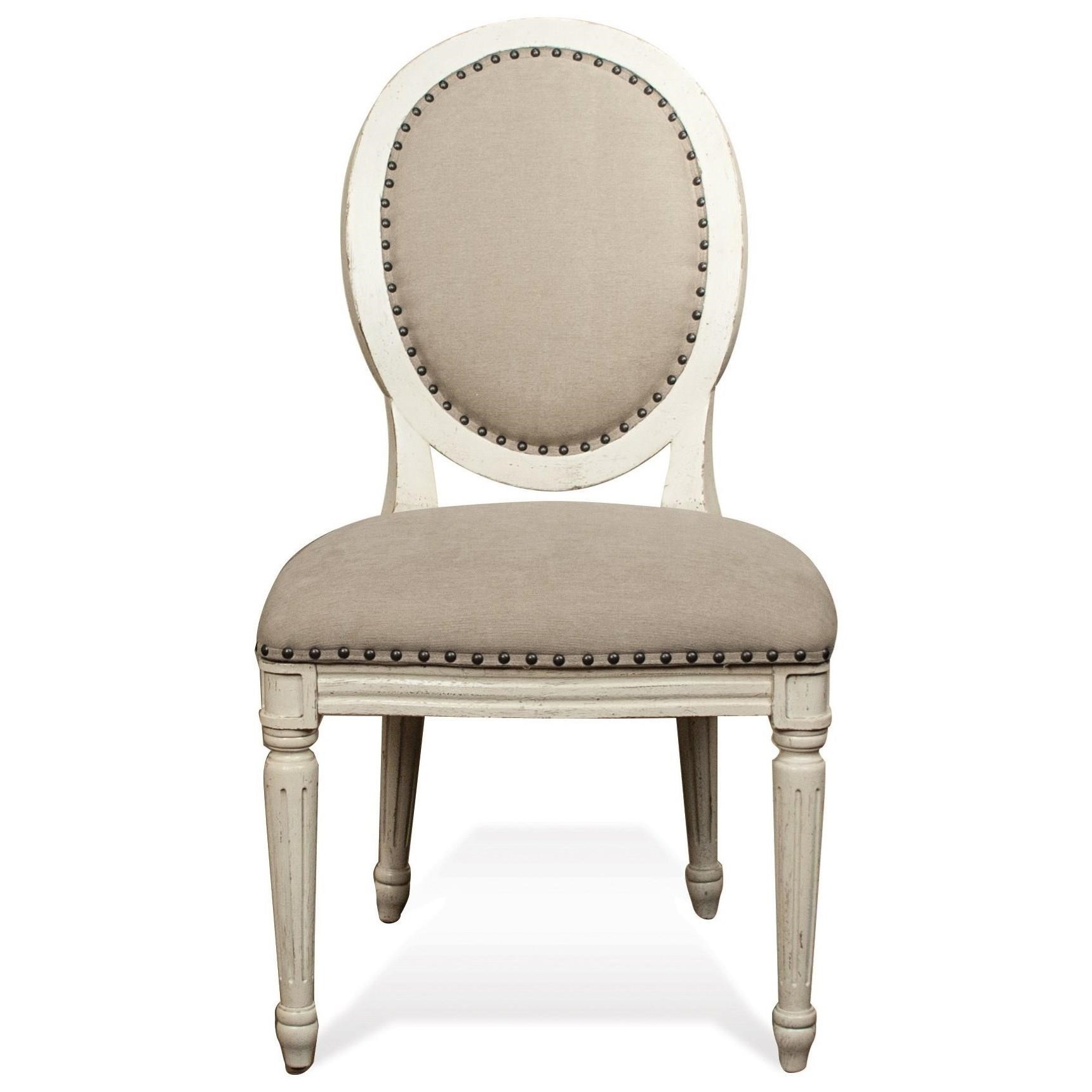 Charming Riverside Furniture HuntleighUpholstered Oval Side Chair ...