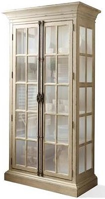 Riverside Furniture Huntleigh China Display Cabinet with Built-In Touch Lighting