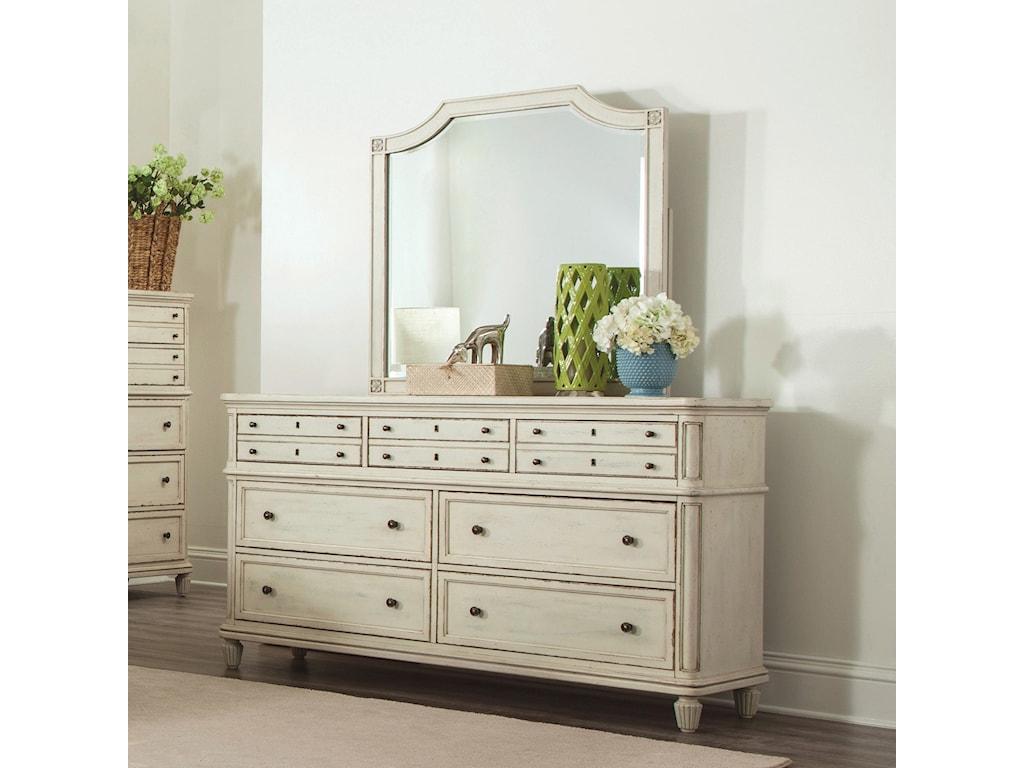 Riverside Furniture HuntleighDresser and Mirror Combo