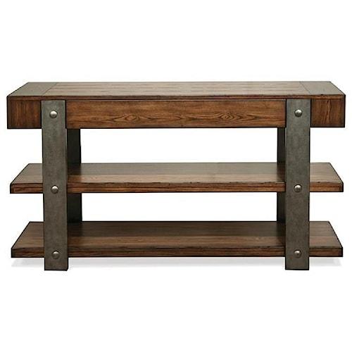 Riverside Furniture Ingram Urban Rustic 1 Drawer Sofa Table