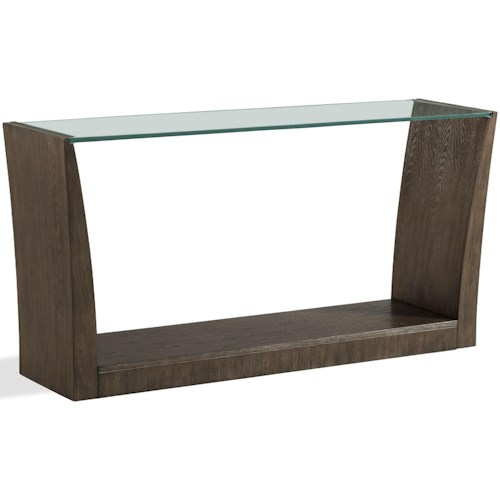Riverside Furniture Joelle Rectangle Sofa Table with Glass Top