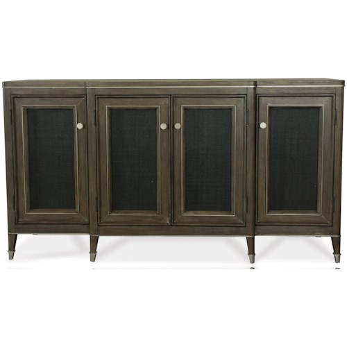 Riverside Furniture Joelle 4 Door Server with Woven Cane Inserts