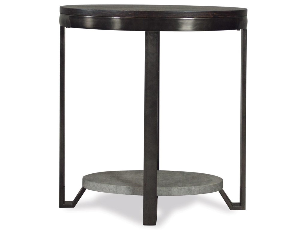 Riverside Furniture JudeOval Chairside Table