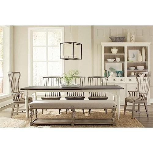 Riverside Furniture Juniper Formal Dining Room Group