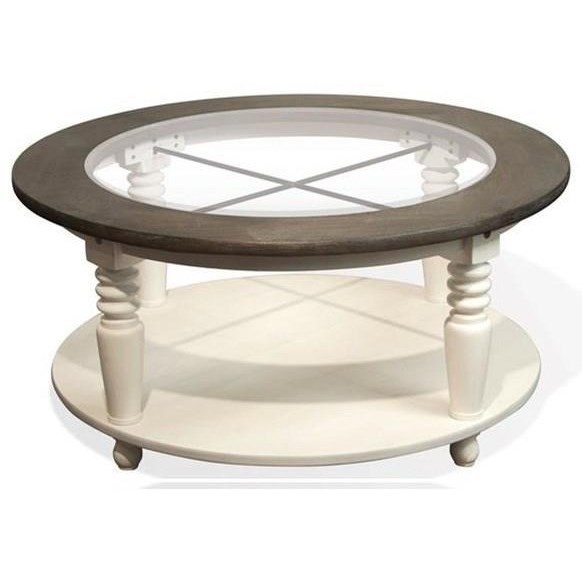 Riverside Furniture Juniper Round Cocktail Table With Removable Casters