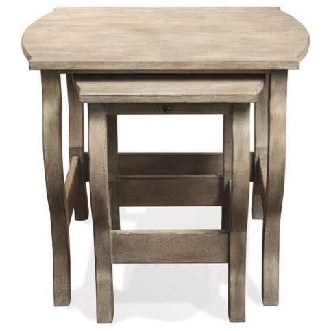 Riverside Furniture Juniper Nesting End Tables in Natural Finish
