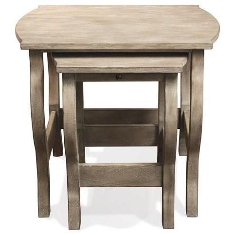 Ordinaire Riverside Furniture JuniperNesting End Tables ...