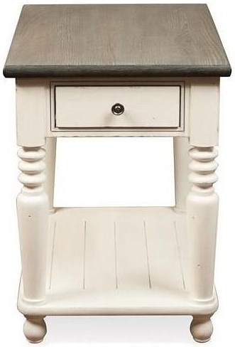 Riverside Furniture Juniper Rectangle 1 Drawer Chairside Table