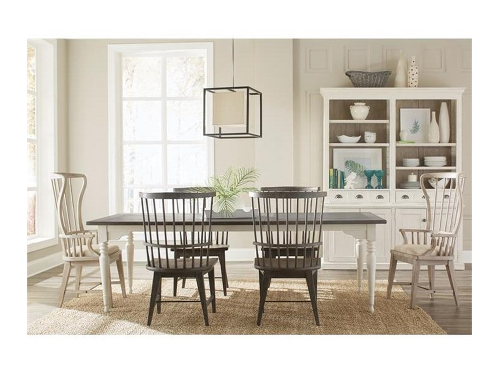 Riverside Furniture Juniper7 Piece Table and Chair Set