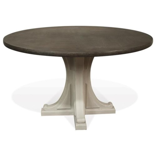 Model Of Riverside Furniture Juniper Round Pedestal Dining Table in Two Tone Finish Beautiful - Model Of Wood Table Finish Minimalist