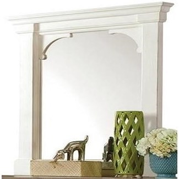 Riverside Furniture Juniper Bracket Mirror in Chalk Finish