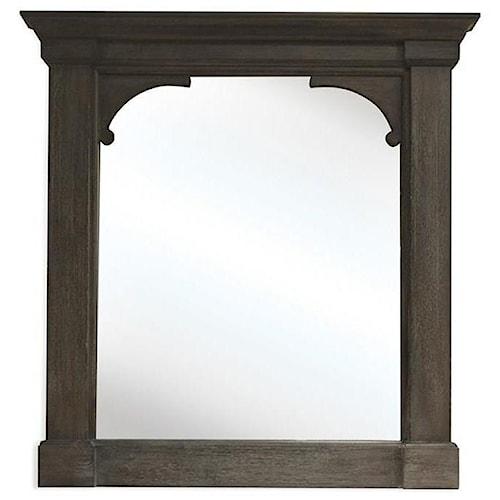 Riverside Furniture Juniper Bracket Mirror in Charcoal Finish
