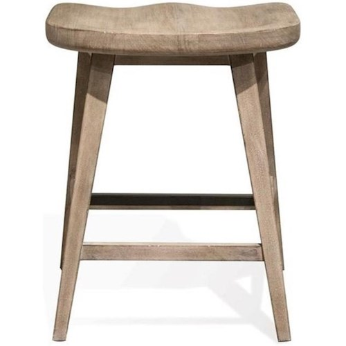 Riverside Furniture Juniper Counter Stool with Saddle-Shape Seat