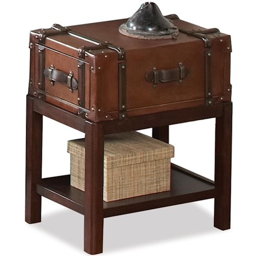 Riverside Furniture Latitudes 1 Drawer Chairside Table with 1 Shelf