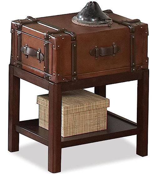 Riverside Furniture Latitudes 1 Drawer Chairside Table with 1 Shelf