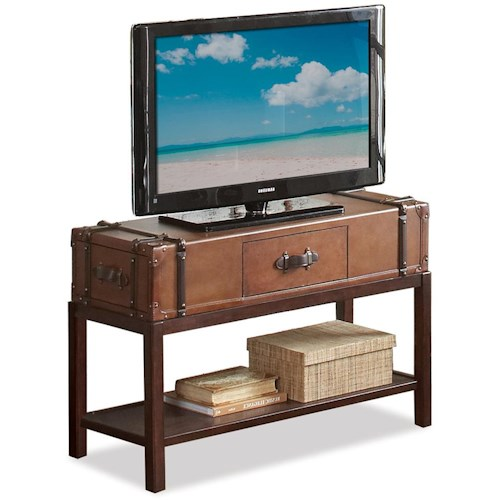 Riverside Furniture Latitudes Rectangular Sofa Table with 3 Drawers