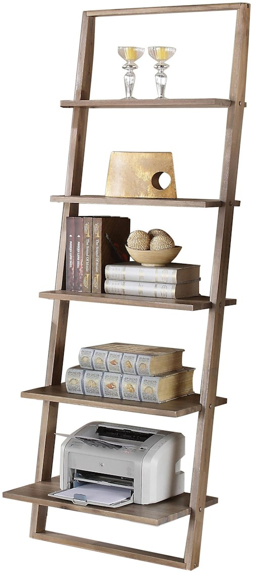 Riverside Furniture Lean Living Leaning Bookcase With 5 Shelves Furniture Superstore