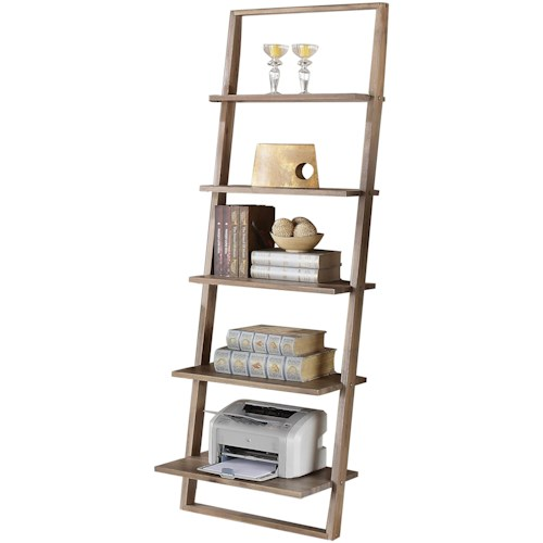 Riverside Furniture Lean Living Leaning Bookcase with 5 Shelves