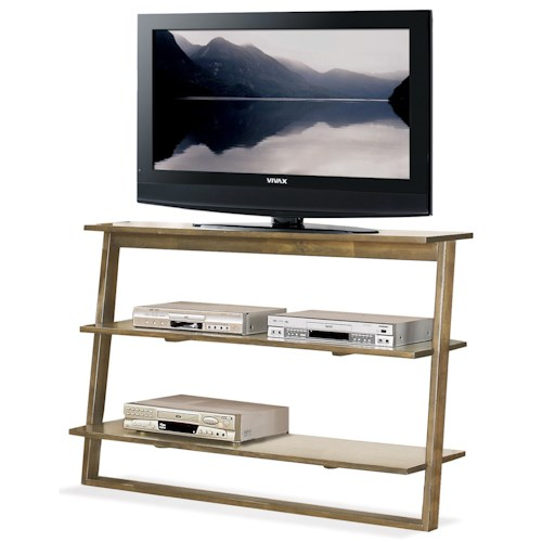 Riverside Furniture Lean Living Leaning TV Stand with 2 Shelves