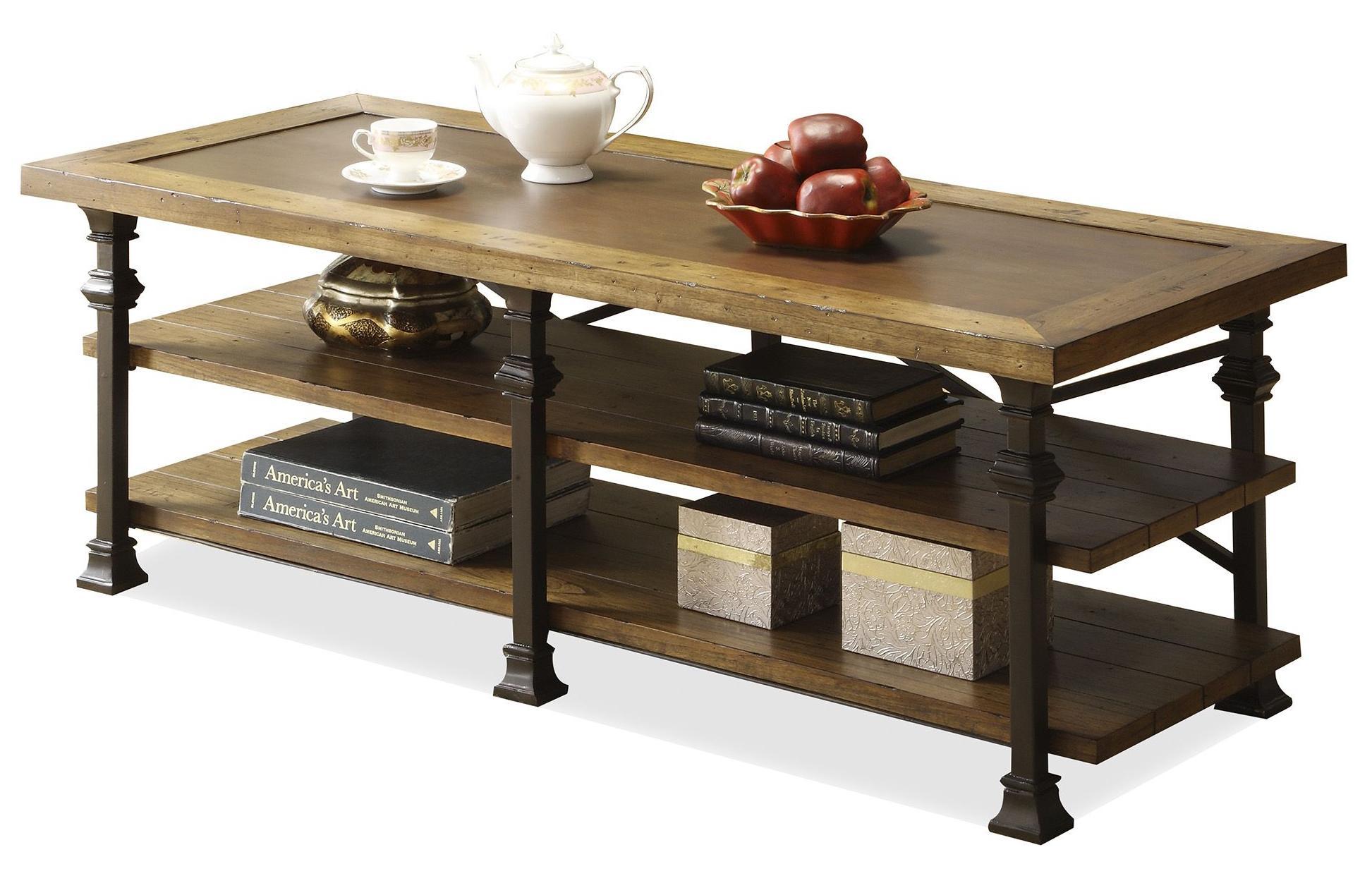 Riverside Furniture Lennox Street Coffee Table With Metal Legs