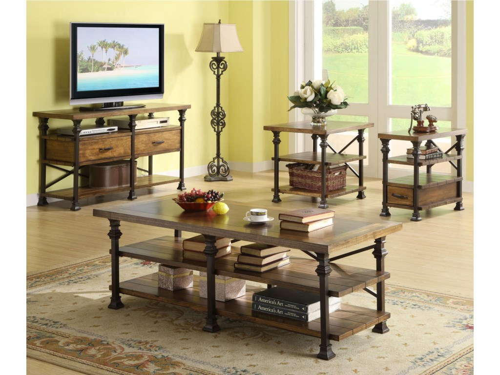 Shown with Coffee Table, Side Table, and Chairside Table
