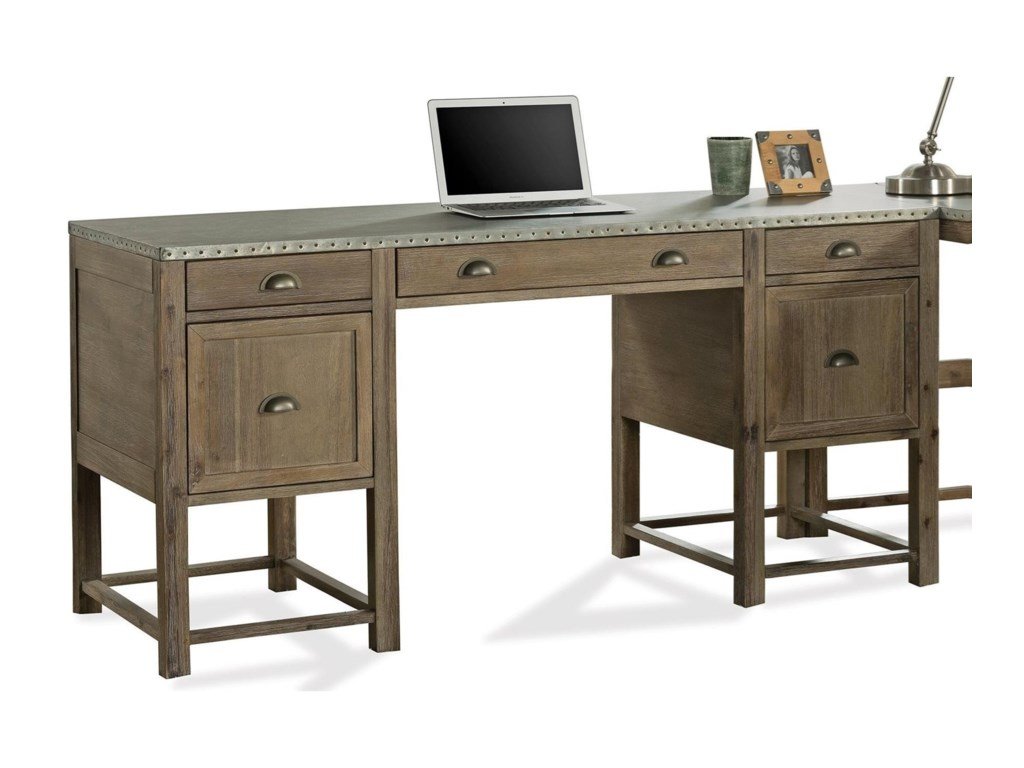 Liam Writing Desk With Drop Front Keyboard Drawer And File Storage By Riverside Furniture
