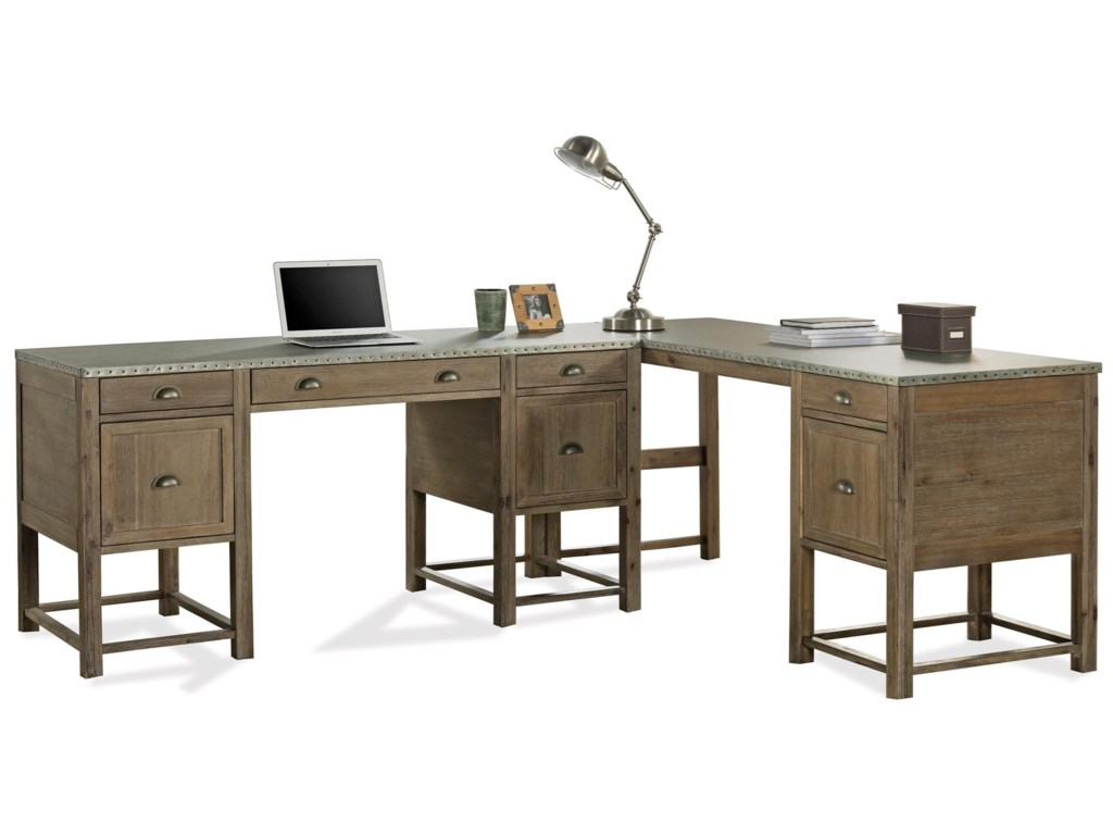 Riverside Furniture Liam Writing Desk With Drop Front Keyboard Drawer And File Storage