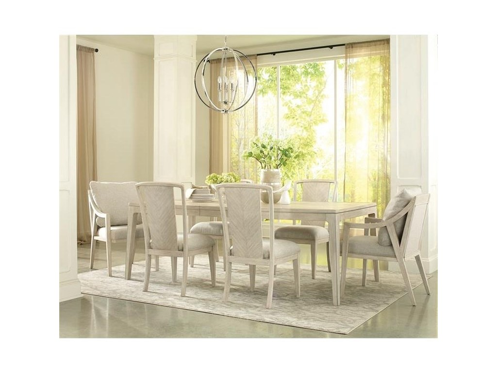 Riverside Furniture Lilly7-Piece Table and Chair Set