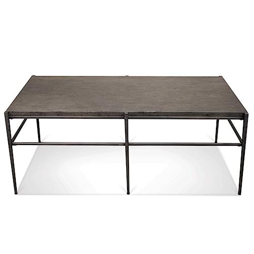 Riverside Furniture Lorraine Rectangular Coffee Table w/ Stone Top